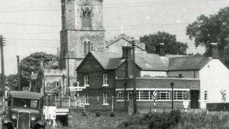 Historic view of the Five Bells, Upwell, taken from the archives.