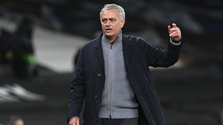 Tottenham manager Jose Mourinho on the touchline during their UEFA Europa League match