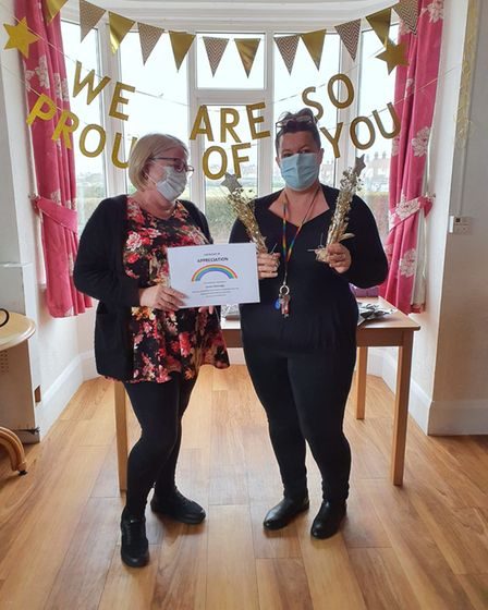 Salisbury Residential Home, in Great Yarmouth, held an award ceremony for staff who have worked hard during the...