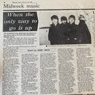 A review of U2 at St Albans City Hall from the Midweek Times in 1981.