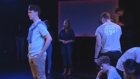 Game Over, presented by a senior team from Beaumont School, opened the virtual 77th Welwyn Garden City Youth Drama Festival.