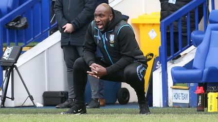 Sheffield Wednesday Manager Darren Moore during the Sky Bet Championship match at Hillsborough, Shef