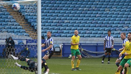 Teemu Pukki smashedNorwich City level against Sheffield Wednesday before Todd Cantwell notched a winner