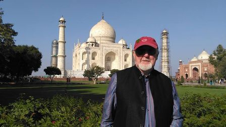 Mike Wallis on his second visit to the Taj Mahal in 2016.