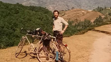 Frank Head touring in the Himalayas in 1997