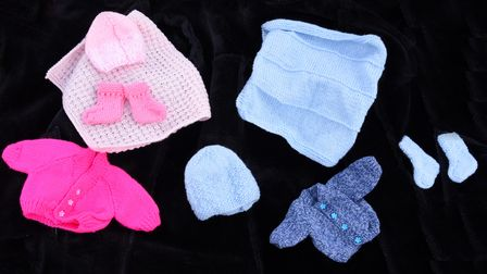 Kylie Dorling and Lauren has baby loss charity that makes clothes for premature babies and donates t