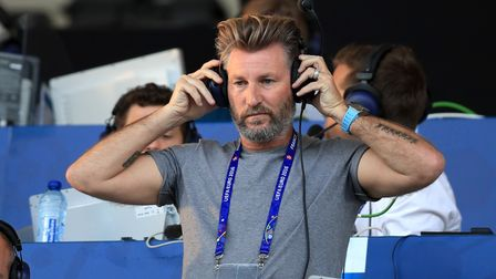 Robbie Savage at work during Euro 2016. Picture: PA
