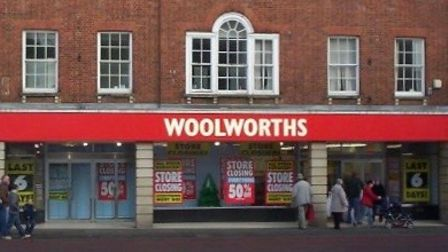 The old Woolworths store at 111 High Street, Huntingdon.
