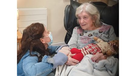 Ruthie Henshall visiting her mum, Gloria, at Spring Lodge care home in Woolverstone