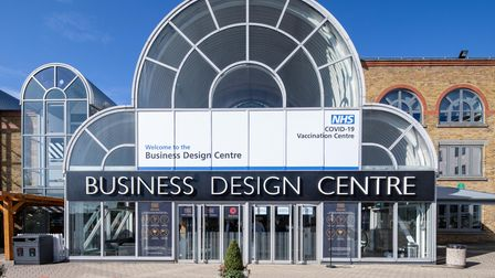NHS Covid-19 vaccination centre opens at London's Business Design Centre