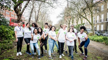 A picture of Islington's youth council taken in February 2020 before the coronavirus lockdown.