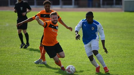 Barkingside in action against Athletic Newham at Cricklefield Stadium (Pic: Tim Edwards)