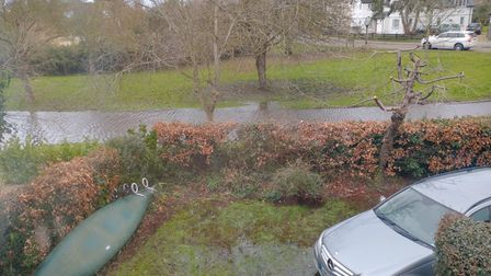 People in Hemingford Grey were still struggling with flooded homes and gardens weeks after December flood.