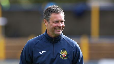 Hitchin Town FC manager Mark Burke