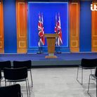 The new No. 10 Downing Street press briefing room, built at a cost of just £2.6million