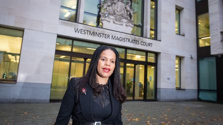 Leicester East MP Claudia Webbe leaving Westminster Magistrates Court, London, after appearing charg