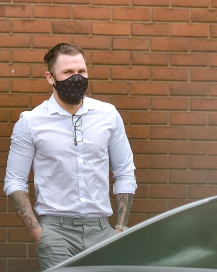 James Norwood leaving Ipswich Magistrates Court on March 16th, 2021. Picture: Archant
