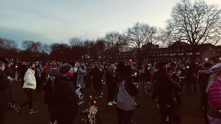 Sarah Everard Hackney vigil.