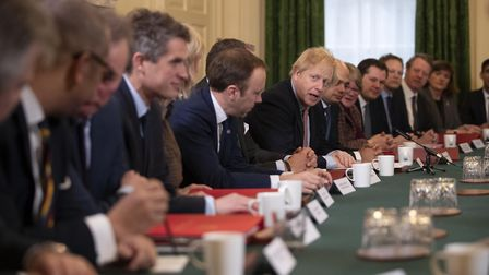 Boris Johnson holds a cabinet meeting with Tory ministers. Photograph: Matt Dunham/PA.