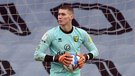 Daniel Barden of Norwich during the Sky Bet Championship match at the Cardiff City Stadium, Cardiff