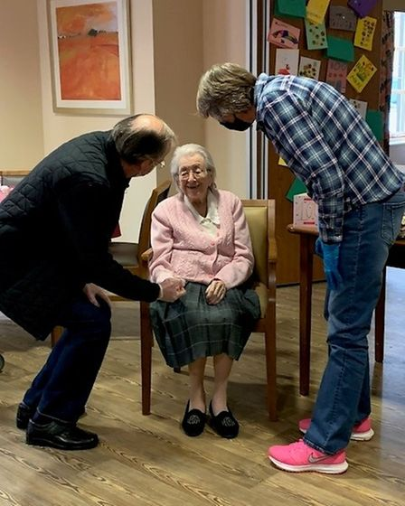 Mary Longbottom celebrated her 100th birthday at Moorlands Court in Melbourn