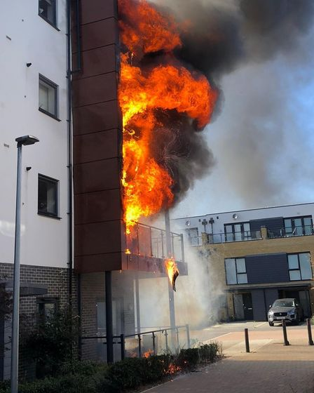 Fire at Primula Court in 2019