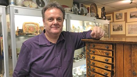 Vincent Page, owner of Antiques on High