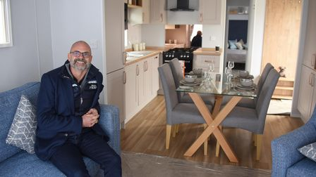 Richardson's chief executive, Greg Munford, inside one of the new holiday homes at the Hemsby Beach