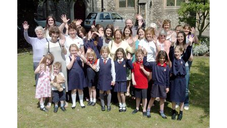 Past and present members of 7th Ipswich Girls Brigade at Christ Church, Tacket Street, Ipswich in 2007