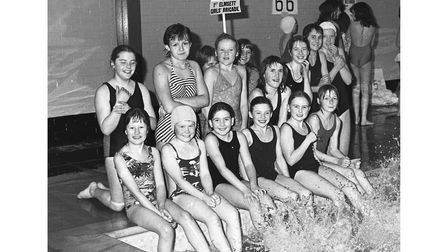A Girls' Brigade swimming Gala at Hadleigh in February 1980
