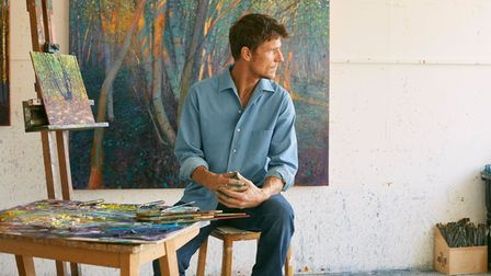 Acclaimed artist Andrew Gifford in his studio