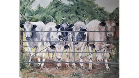 """First place - Valerie Faulkner's """"Welcoming Committee''"""
