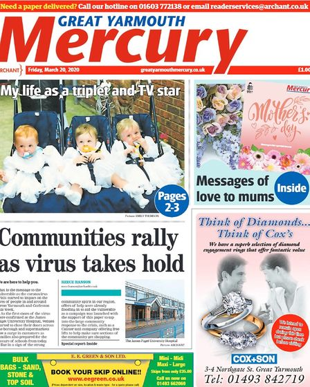 Yarmouth Mercury front page March 20, 2020