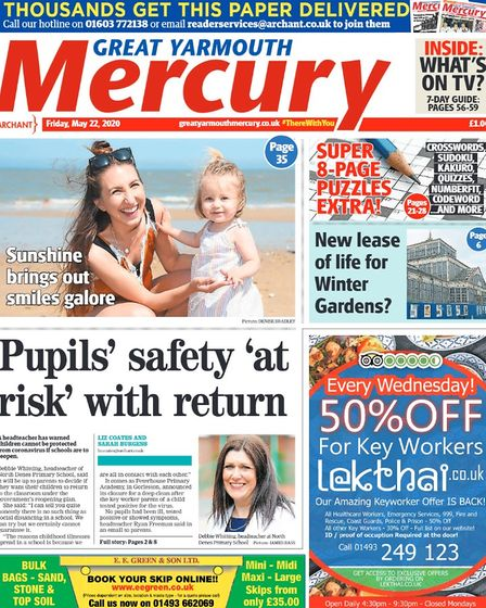 Yarmouth Mercury front page May 22, 2020