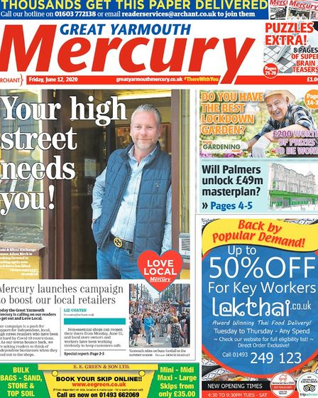 Yarmouth Mercury front page July 2020