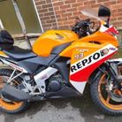 orange Honda CBR 125 Rexel motorbike stolen stevenage