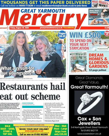 Yarmouth Mercury front page August