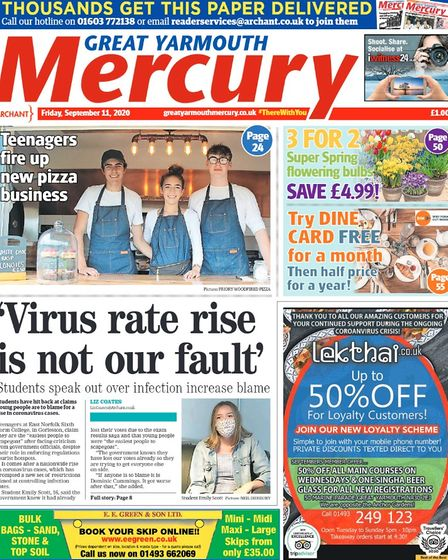 Yarmouth Mercury front page September