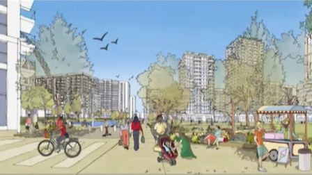 Proposed view as Brent approves two more high rises in Wembley Park