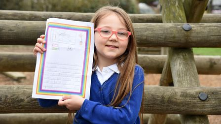 Lila. Fairfield Primary school have been writing letters and drawing pictures to send to isolated pe
