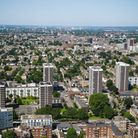 Photograph of Hackney city scape.