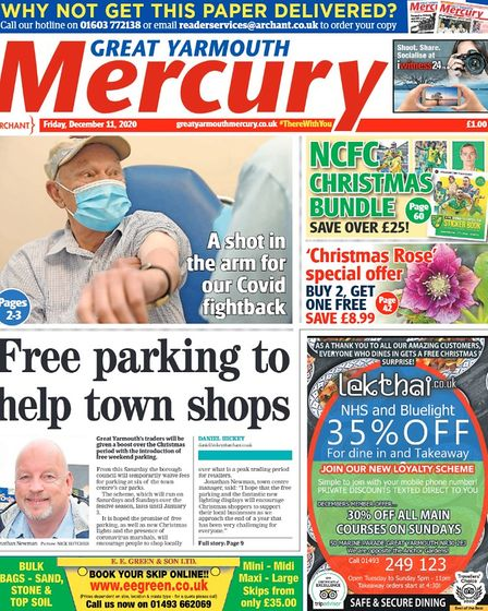 Yarmouth Mercury front page December