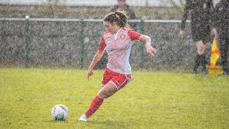 Action from Stevenage Women's defeat to Cambridge United