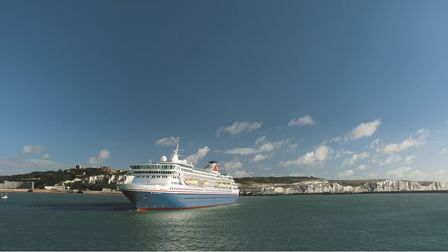 Balmoral cruising out of Dover, UK