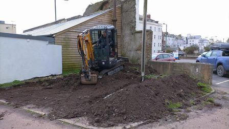 Work under way at Sidmouth's Port Royal for a community garden