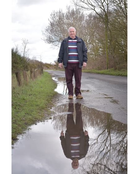 Mr Sugg has been communicating with Ipswich Borough Council about essential repairs to the road