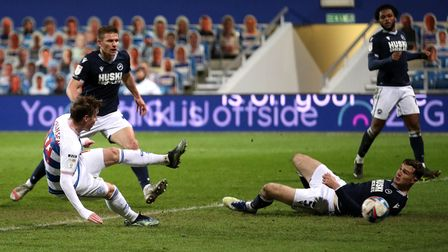 Queens Park Rangers' Stefan Johansen (left) scores their side's second goal of the game during the S