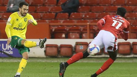 Lukas Rupp was prominent in Norwich City's 2-0 Championship win at Nottingham Forest