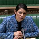 Home secretary Priti Patel speaking in the House of Commons