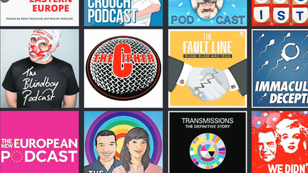 Some of the podcasts featured in our list of the 50 greatest podcasts